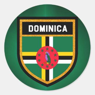 Adesivo Redondo Bandeira de Dominica