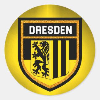 Adesivo Redondo Bandeira de Dresden