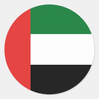 Adesivo Redondo Bandeira de Emiradosarabes