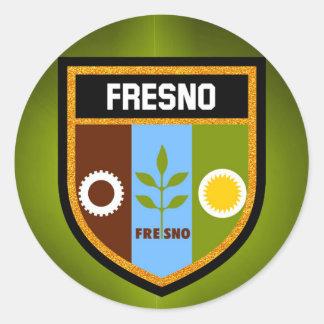 Adesivo Redondo Bandeira de Fresno