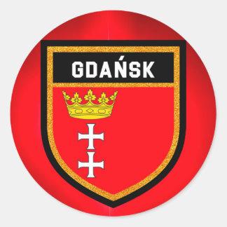 Adesivo Redondo Bandeira de Gdańsk