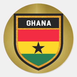 Adesivo Redondo Bandeira de Ghana
