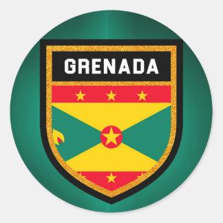 Adesivo Redondo Bandeira de Grenada