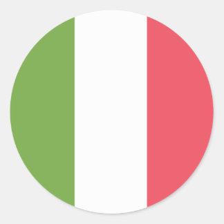 Adesivo Redondo Bandeira de Italia