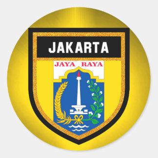 Adesivo Redondo Bandeira de Jakarta
