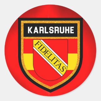 Adesivo Redondo Bandeira de Karlsruhe