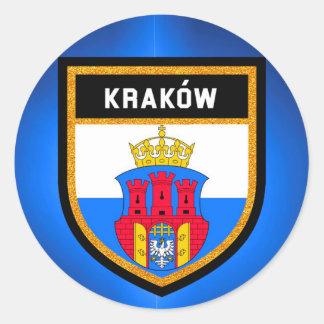 Adesivo Redondo Bandeira de Kraków