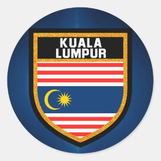 Adesivo Redondo Bandeira de Kuala Lumpur