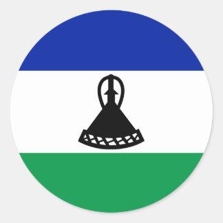 Adesivo Redondo Bandeira de Lesotho
