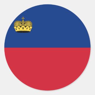 Adesivo Redondo Bandeira de Liechtenstein