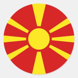 Adesivo Redondo Bandeira de Macedónia