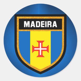 Adesivo Redondo Bandeira de Madeira