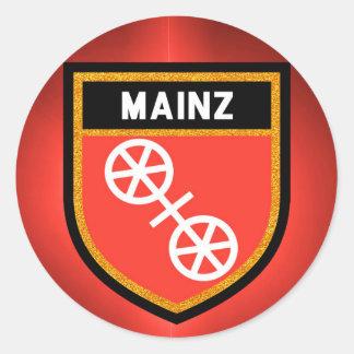 Adesivo Redondo Bandeira de Mainz