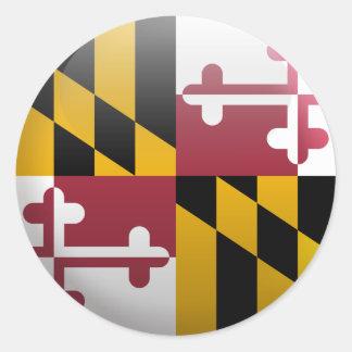 Adesivo Redondo Bandeira de Maryland
