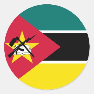 Adesivo Redondo Bandeira de Mozambique
