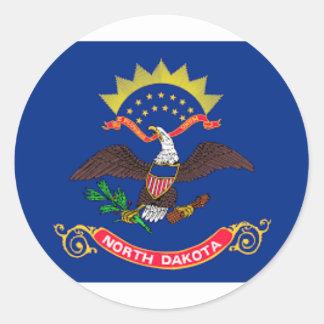 Adesivo Redondo Bandeira de North Dakota
