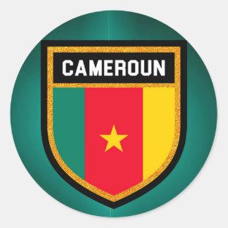 Adesivo Redondo Bandeira de República dos Camarões