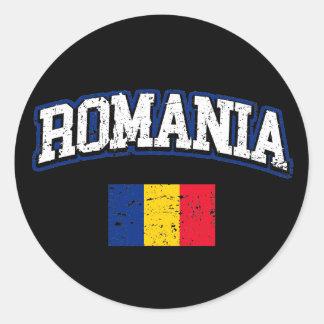 Adesivo Redondo Bandeira de Romania