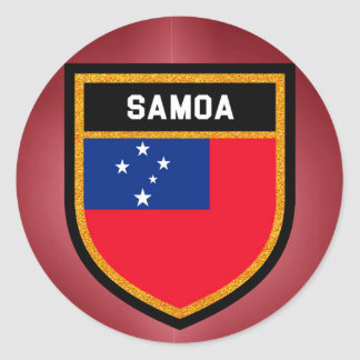 Adesivo Redondo Bandeira de Samoa