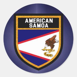 Adesivo Redondo Bandeira de Samoa Americanas