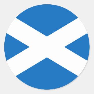 Adesivo Redondo Bandeira de Scotland - bandeira escocesa