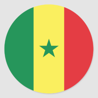 Adesivo Redondo Bandeira de Senegal