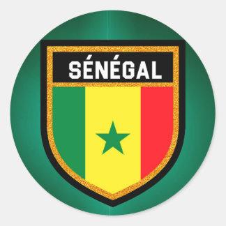 Adesivo Redondo Bandeira de Sénégal