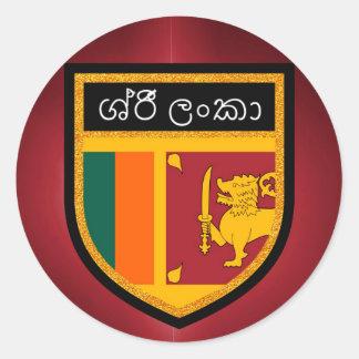 Adesivo Redondo Bandeira de Sri Lanka
