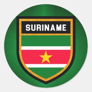 Adesivo Redondo Bandeira de Suriname