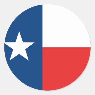 Adesivo Redondo Bandeira de Texas