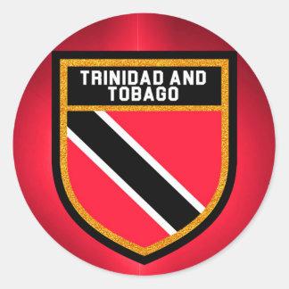 Adesivo Redondo Bandeira de Trinidad and Tobago