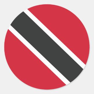 Adesivo Redondo Bandeira de Trinidadtobago