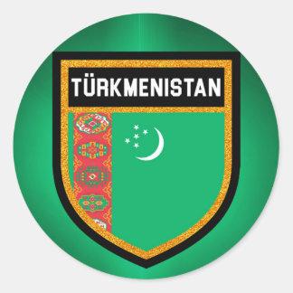 Adesivo Redondo Bandeira de Turkmenistan