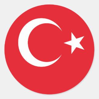 Adesivo Redondo Bandeira de Turquia