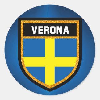 Adesivo Redondo Bandeira de Verona
