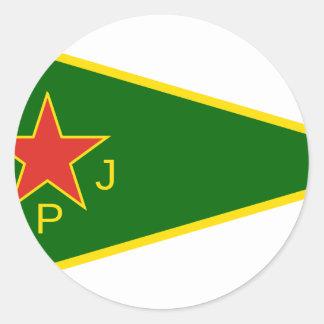 Adesivo Redondo Bandeira de YPJ