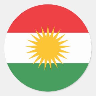 Adesivo Redondo Bandeira do Curdistão; Curdo; Curdo