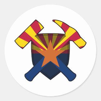 Adesivo Redondo Bandeira do estado da arizona do protetor do