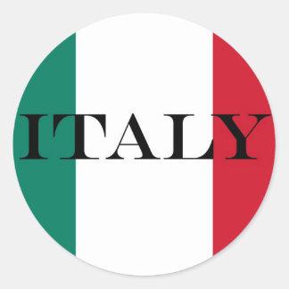 Adesivo Redondo Bandeira do italiano de Italia Italia