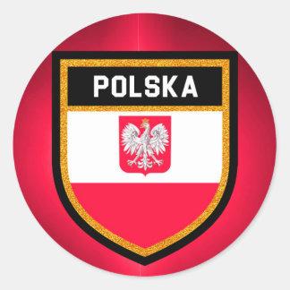 Adesivo Redondo Bandeira do Polônia