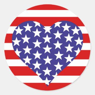 Adesivo Redondo Bandeira dos Estados Unidos