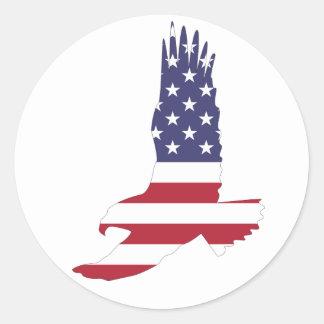 Adesivo Redondo Bandeira Eagle dos EUA