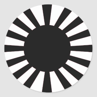 Adesivo Redondo Bandeira japonesa de Sun de ascensão