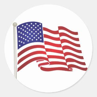 Adesivo Redondo Bandeira pólo dos EUA
