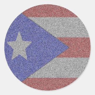 Adesivo Redondo Bandeira porto-riquenha personalizada