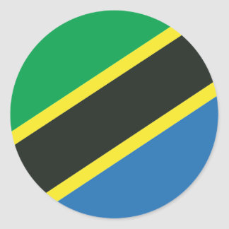 Adesivo Redondo Bandeira tanzaniana