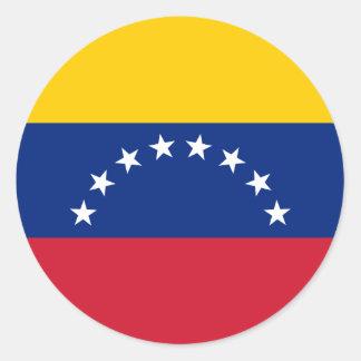 Adesivo Redondo Bandeira venezuelana - bandeira de Venezuela -