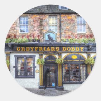 Adesivo Redondo Bar Edimburgo de Greyfriars Bobby