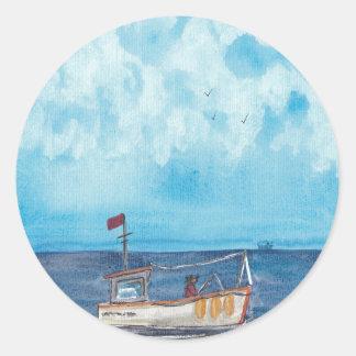 Adesivo Redondo Barco de pesca