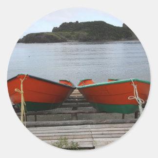 Adesivo Redondo Barcos bonito de Terra Nova
